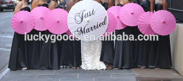 42 cm pengantin hanya menikah lukisan payung kertas untuk dekorasi pernikahan