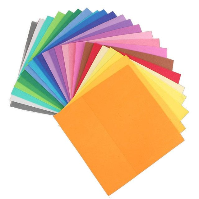 24 pcs lot new 24 warna tebal multicolor spons busa kertas lipat scrapbooking kertas kerajinan