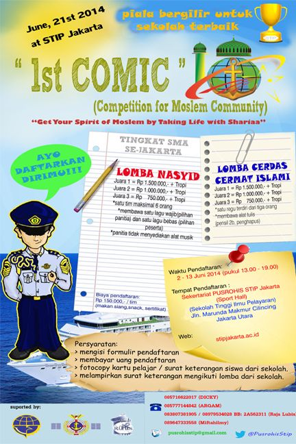 lomba 1st comic competition for moslem community oleh rohis stip jakarta