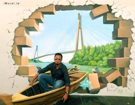 lukisan 4 dimensi karya tangan anak bangsa ini bisa dinikmati di beberapa daerah di indonesia