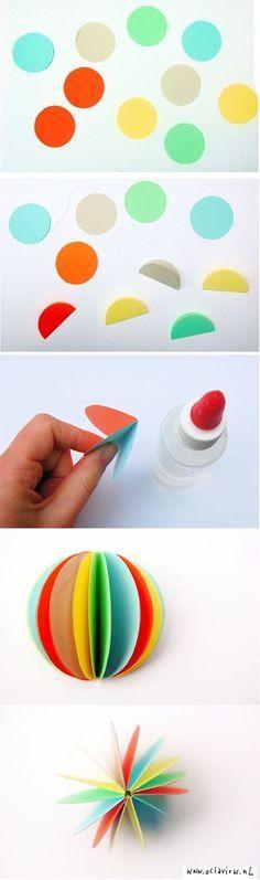 easy paper diy diy crafts tutorials fun ornament idea for n s tree hiasan