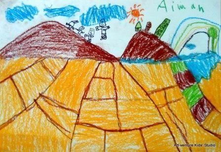 Lukisan Pemandangan Untuk Mewarna Terhebat Lukisan Kanak Kanak Art Venture Kids Studio