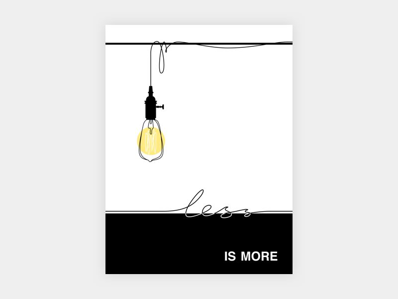 less is more minimalist posters templates minimalist poster design inspiration