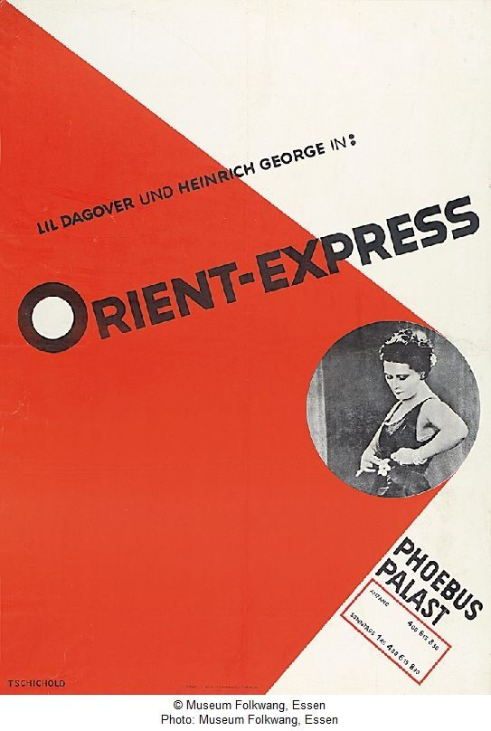orient express phoebus palast typography poster design typographic design bauhaus