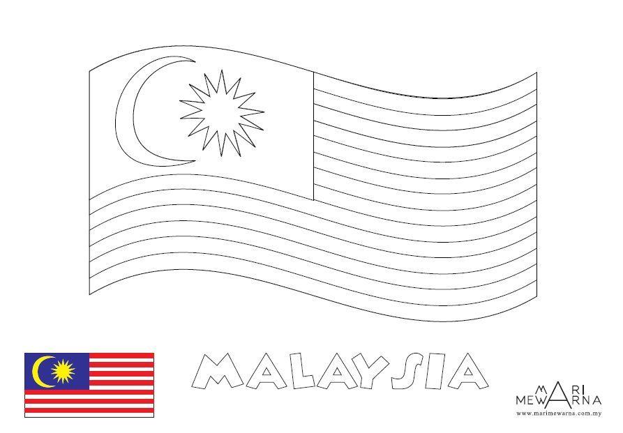 gambar poster untuk mewarna menarik gambar lukisan bendera malaysia gambar v