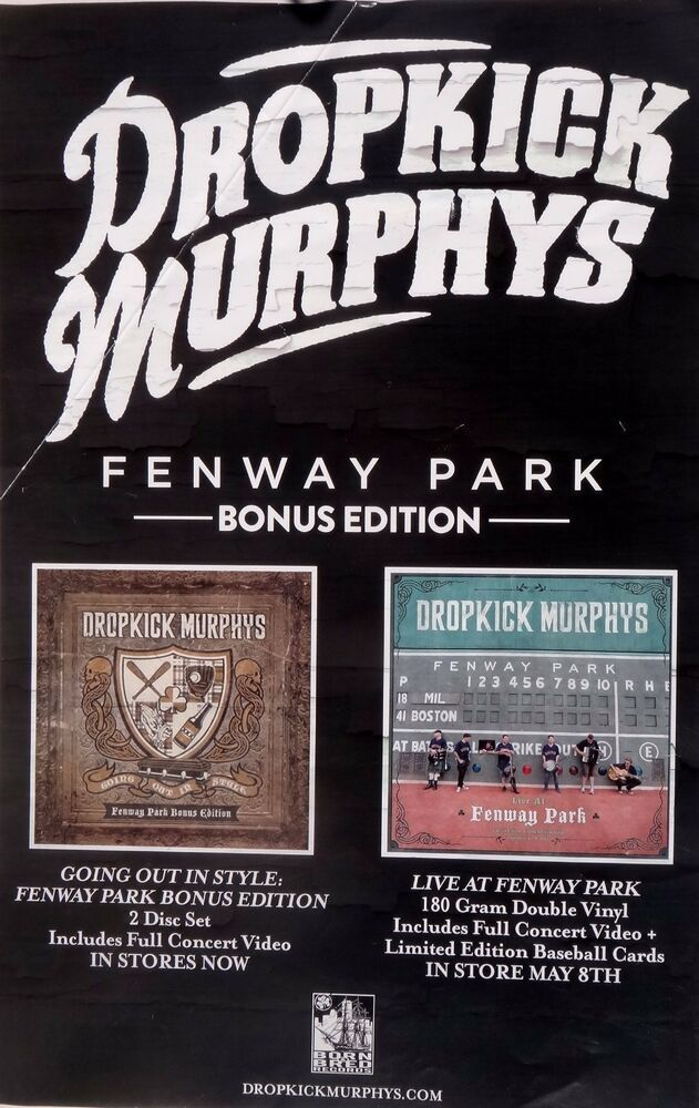 details about dropkick murphy s going out in style live at fenway park u s promo poster