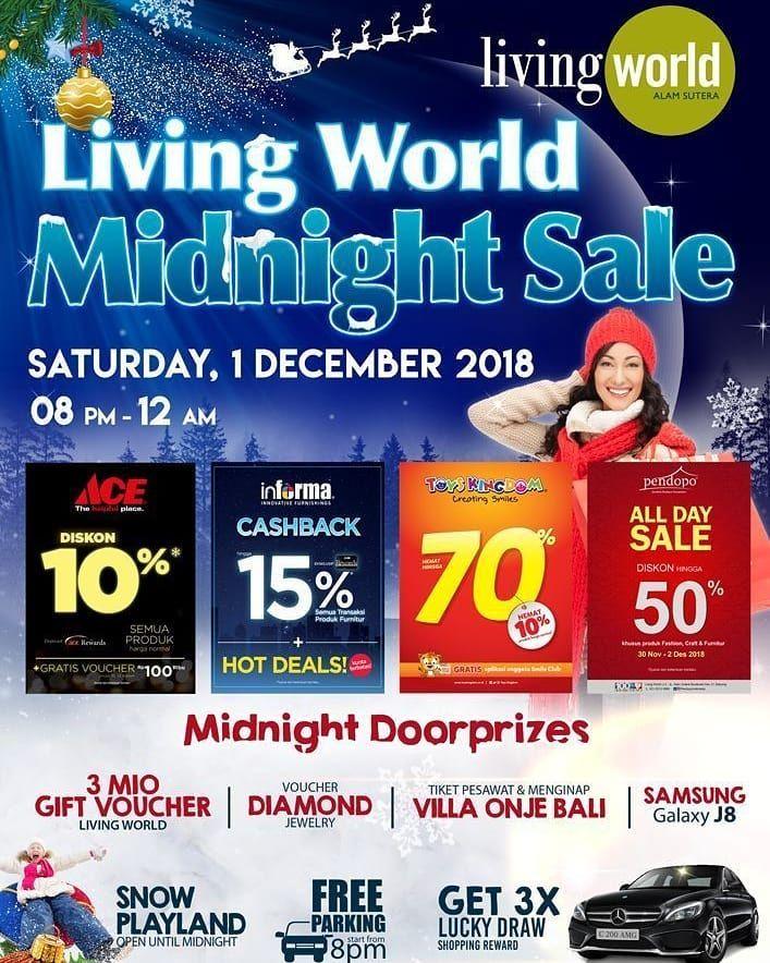 selain itu nikmati juga free parking dari mulai pukul 20 00 wib dapatkan juga midnight doorprize dan hadiah menarik lainnya berlaku hanya di tanggal 1
