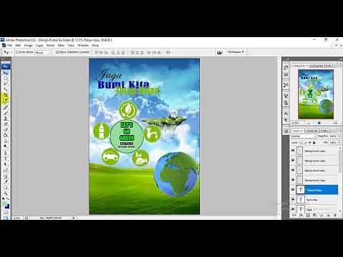 Poster Menjaga Lingkungan Berguna Tutorial Membuat Design Poster Tentang Go Green Menggunakan
