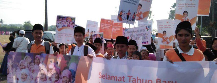 sambut tahun baru islam anak juara ikut serta pawai taaruf se kabupaten tangerang