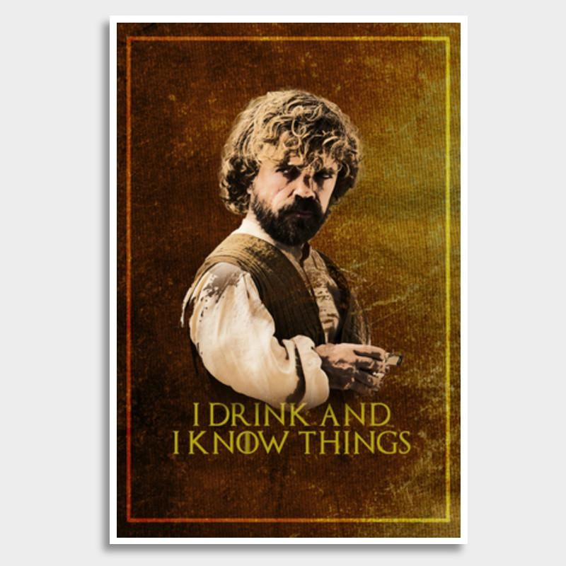 game of thrones tyrion lannister i drink and i know things giant poster