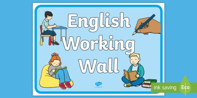english working wall display poster