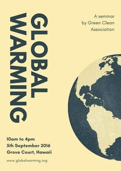 cream earth global warming poster warning template ks1
