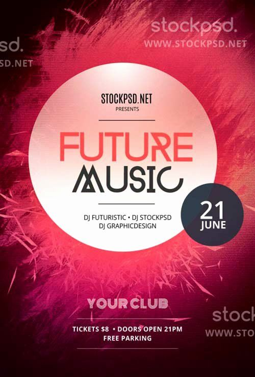 free concert poster template photoshop unique graphic design flyers gallery i pinimg originals 0d 5c ee