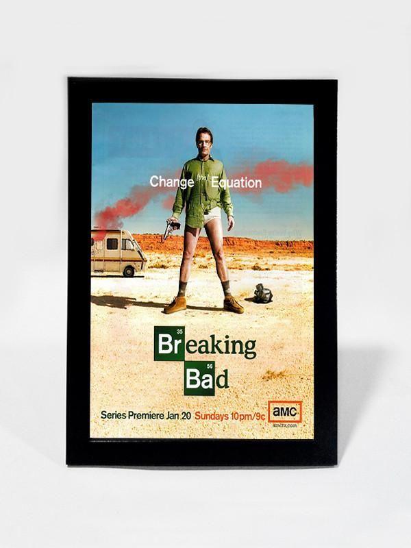 online shopping framed art prints brand merchandise india breaking bad change the equation framed art postergully