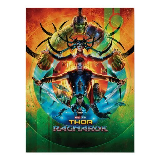 thor ragnarok concentric circle movie collage poster