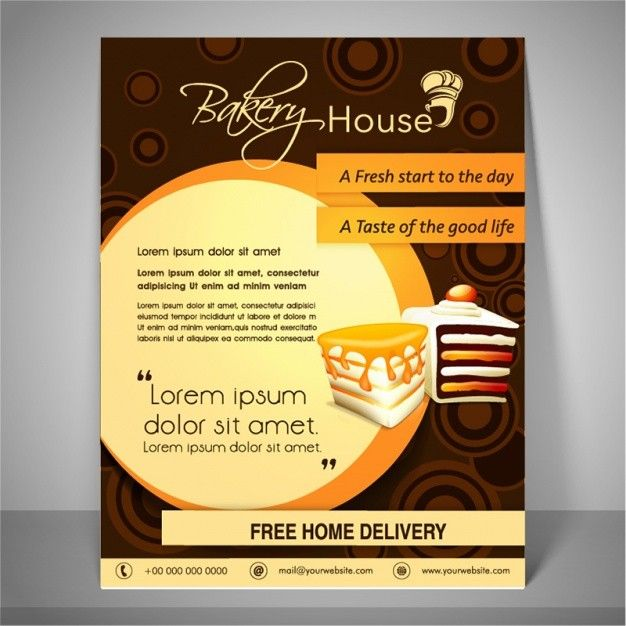 brochures background vectors beautiful bakery flyers poster templates 0d wallpapers 46 awesome poster of brochures background