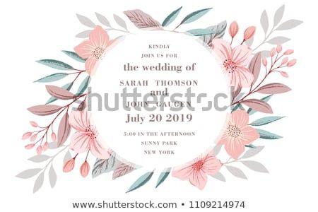 wedding ornament concept floral poster invite vector decorative greeting card or invitation design