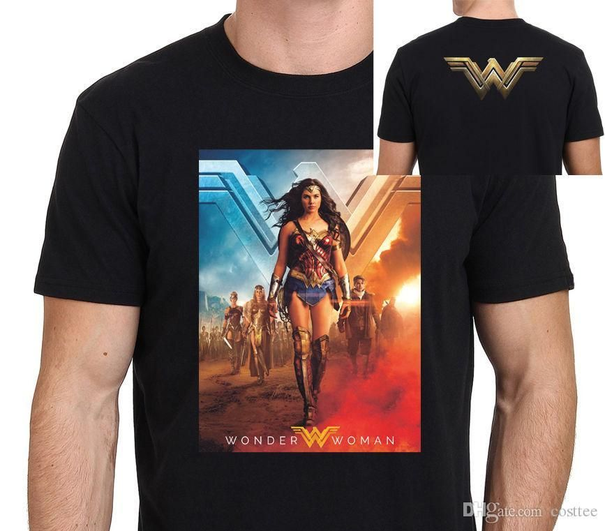 new wonder woman movie poster men s t shirt size s to xxl cool funny t shirts on t shirt from yubin06 25 33 dhgate com